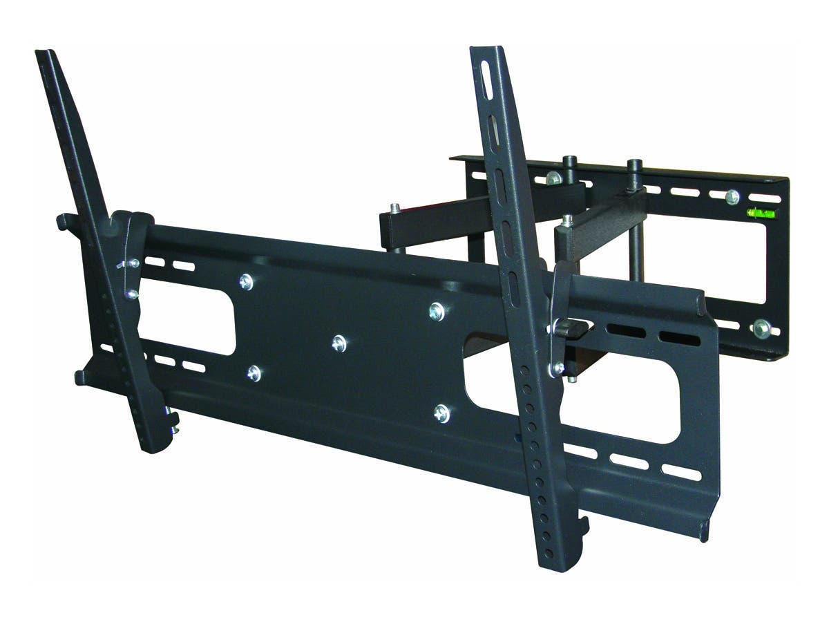 Monoprice Full-Motion Articulating TV Wall Mount Bracket - For TVs 37in to 70in, Max Weight 132 lbs, Extension Range of 3.7in to 18.7in, VESA Patterns Up to 800x400, Works with Concrete & Brick-Large-Image-1