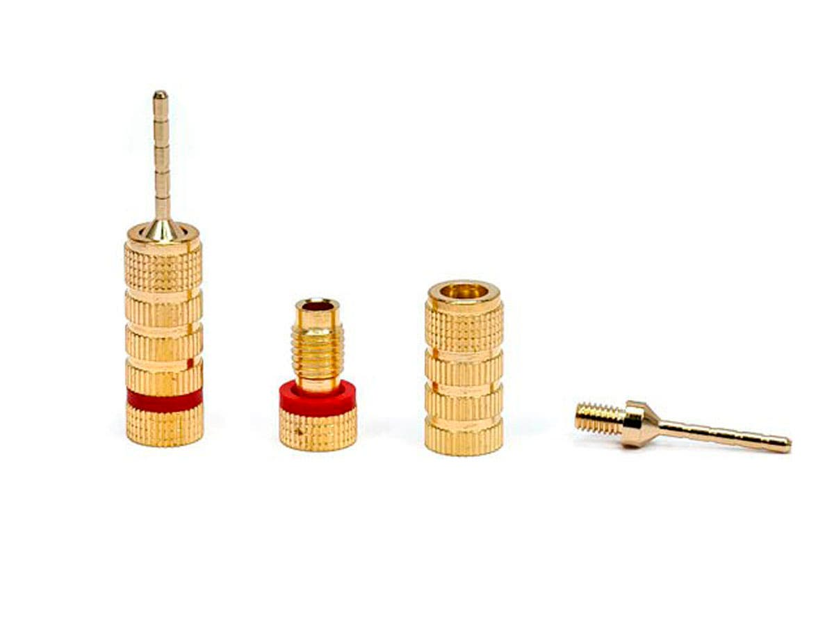 Awesome Monoprice 5 Pairs Of High Quality Gold Plated Speaker Pin Plugs Pin Wiring Cloud Oideiuggs Outletorg