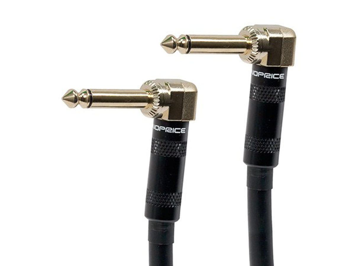 10ft Premier Series 1/4-inch (TS) Right Angle Male to Right Angle Male 16AWG Audio Cable (Gold Plated)