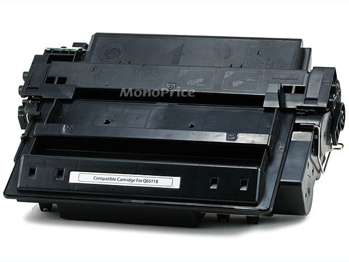 Monoprice Compatible HP11X Q6511X Laser Toner - Black (High Yield)-Large-Image-1