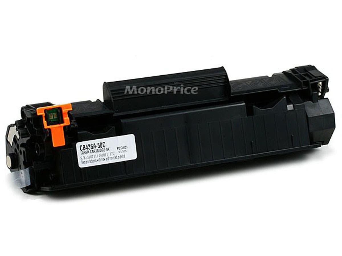 Monoprice Compatible HP36A CB436A Laser Toner - Black-Large-Image-1