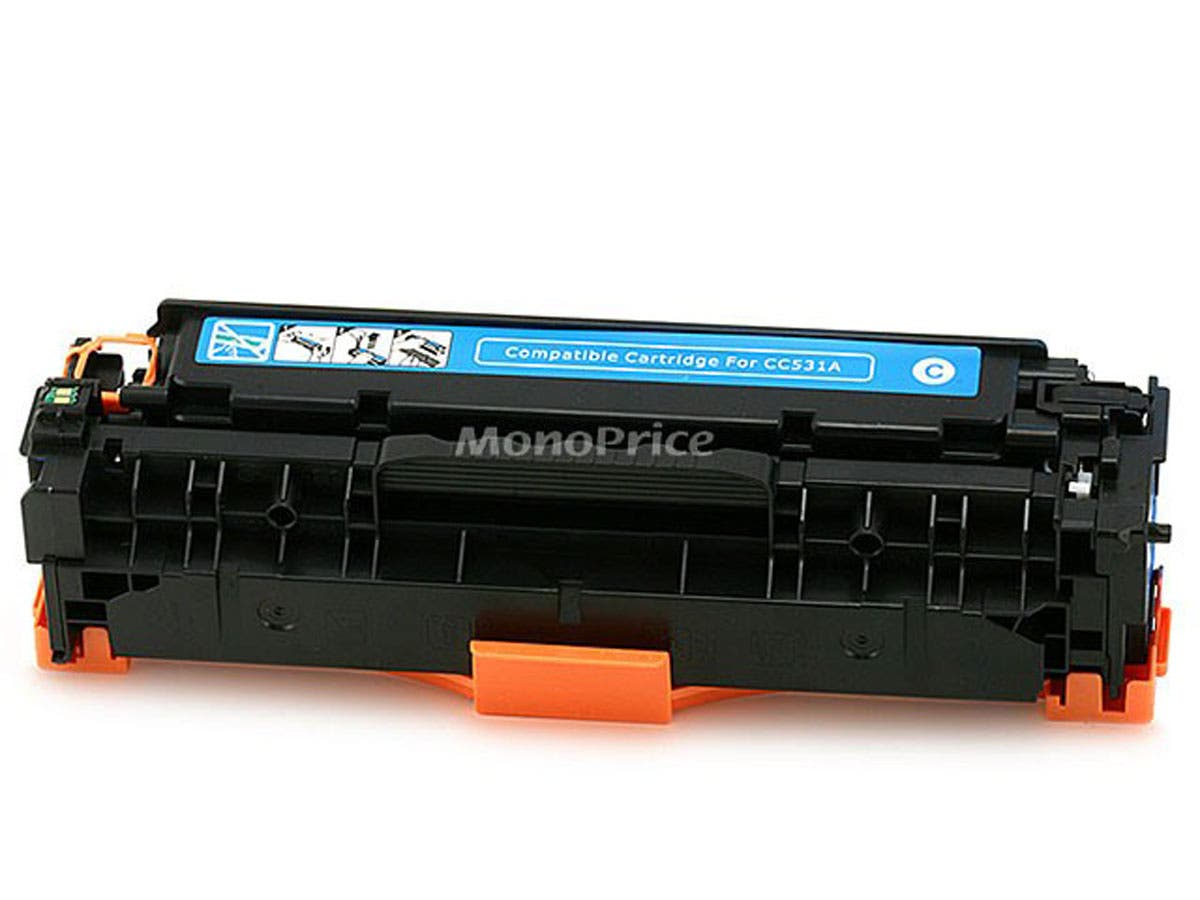 Monoprice Compatible universal HP CC531A/ Canon 118 (2661B001AA) Laser Toner - Cyan-Large-Image-1