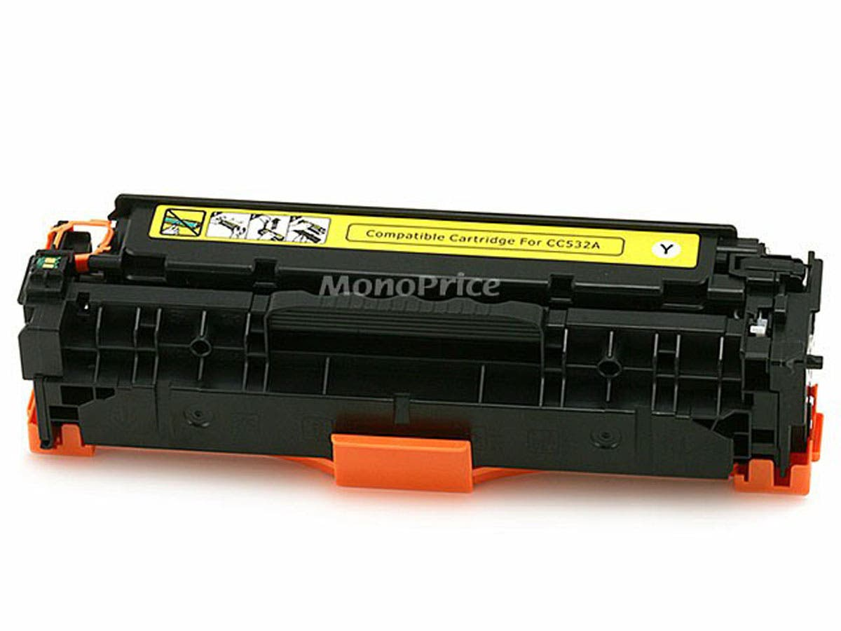 Monoprice Compatible universal HP CC532A/ Canon 118 (2659B001AA) Laser Toner - Yellow-Large-Image-1