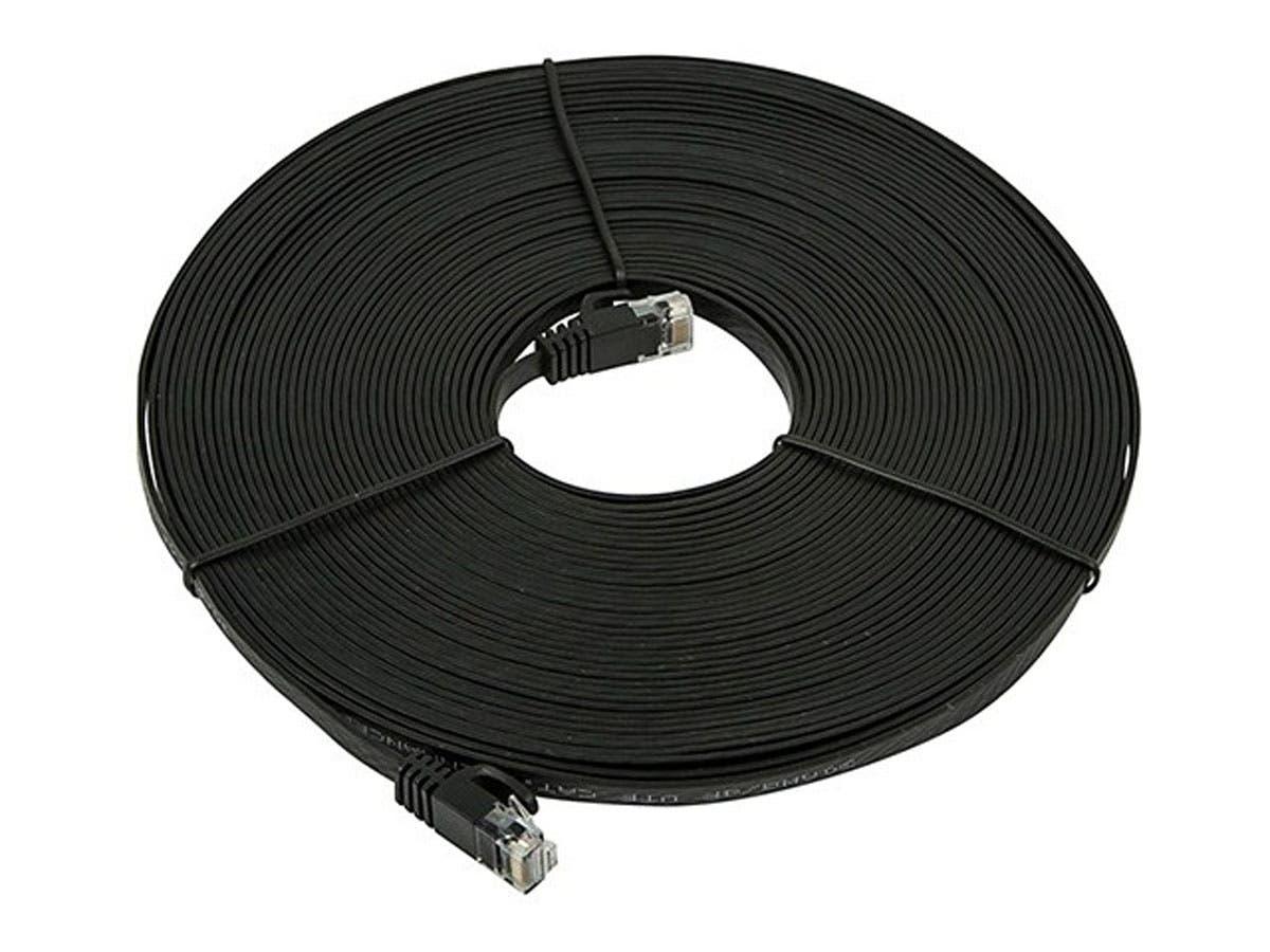 Monoprice Cat5e Ethernet Patch Cable - Snagless RJ45, Flat,Stranded ...