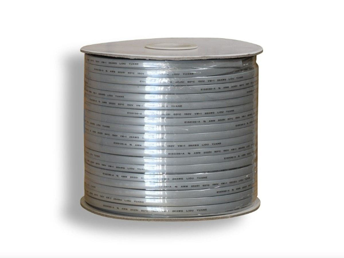 Monoprice 8 Wire, UL, 26AWG, Stranded, Silver - 1000ft-Large-Image-1