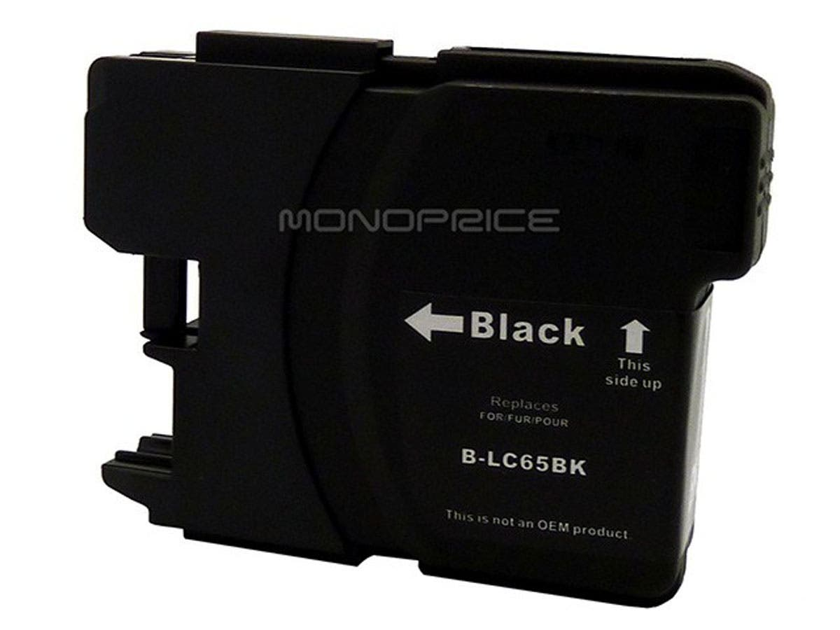Monoprice compatible Brother LC65BK inkjet- black (High Yield)-Large-Image-1
