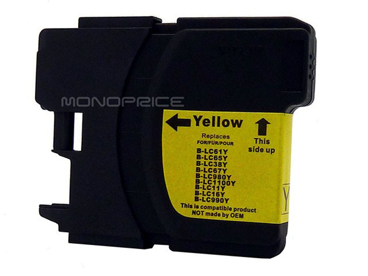 Monoprice compatible Brother LC61/65Y inkjet- yellow (High Yield)-Large-Image-1