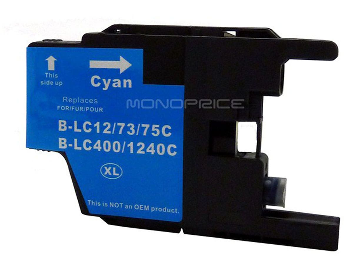 Monoprice compatible Brother LC75C inkjet- cyan (High Yield)-Large-Image-1