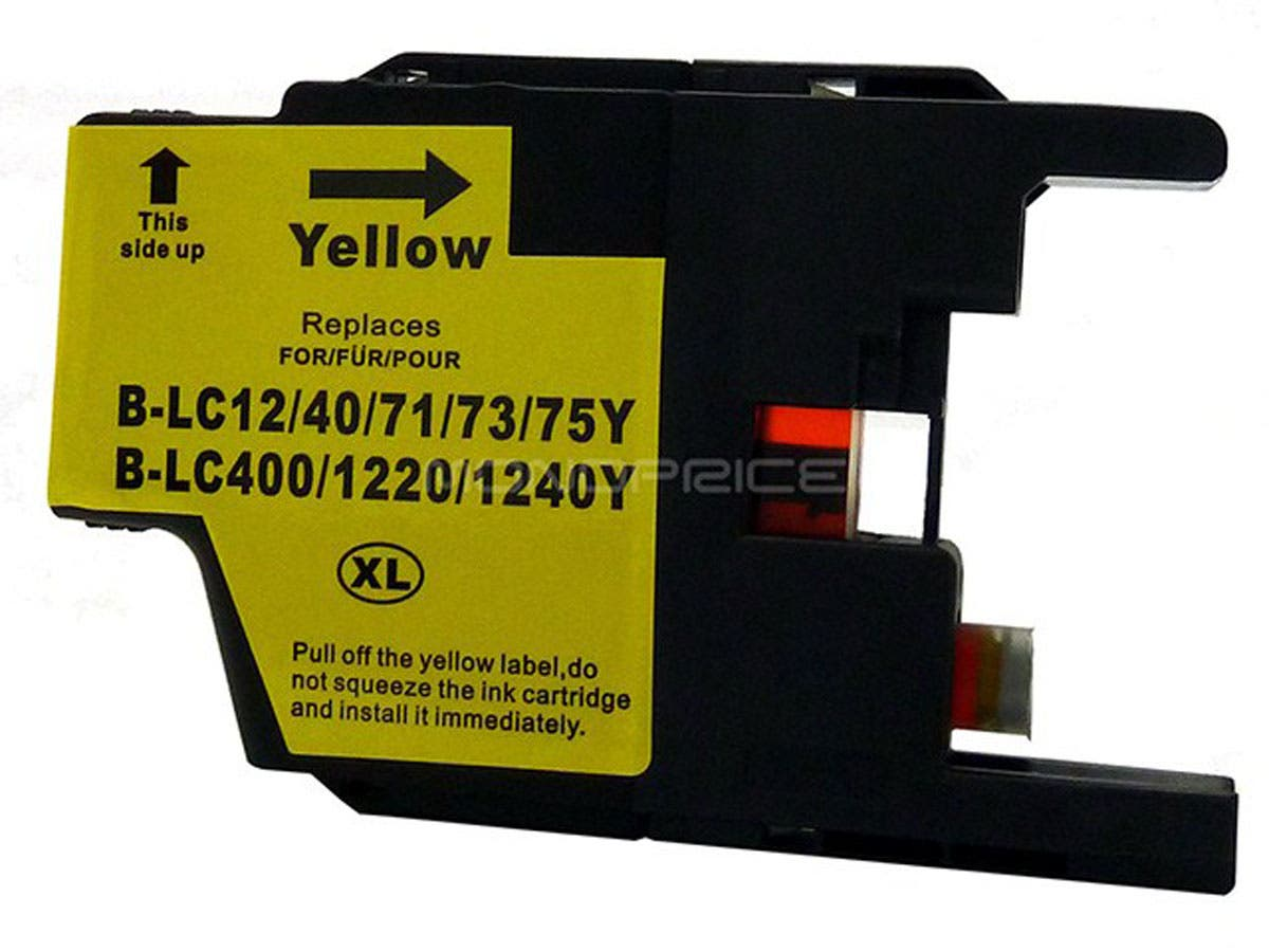 MPI compatible Brother LC75Y inkjet- yellow (High Yield)-Large-Image-1