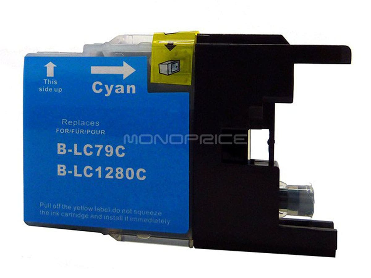 Monoprice compatible Brother LC79C inkjet- cyan (Extra High Yield)-Large-Image-1