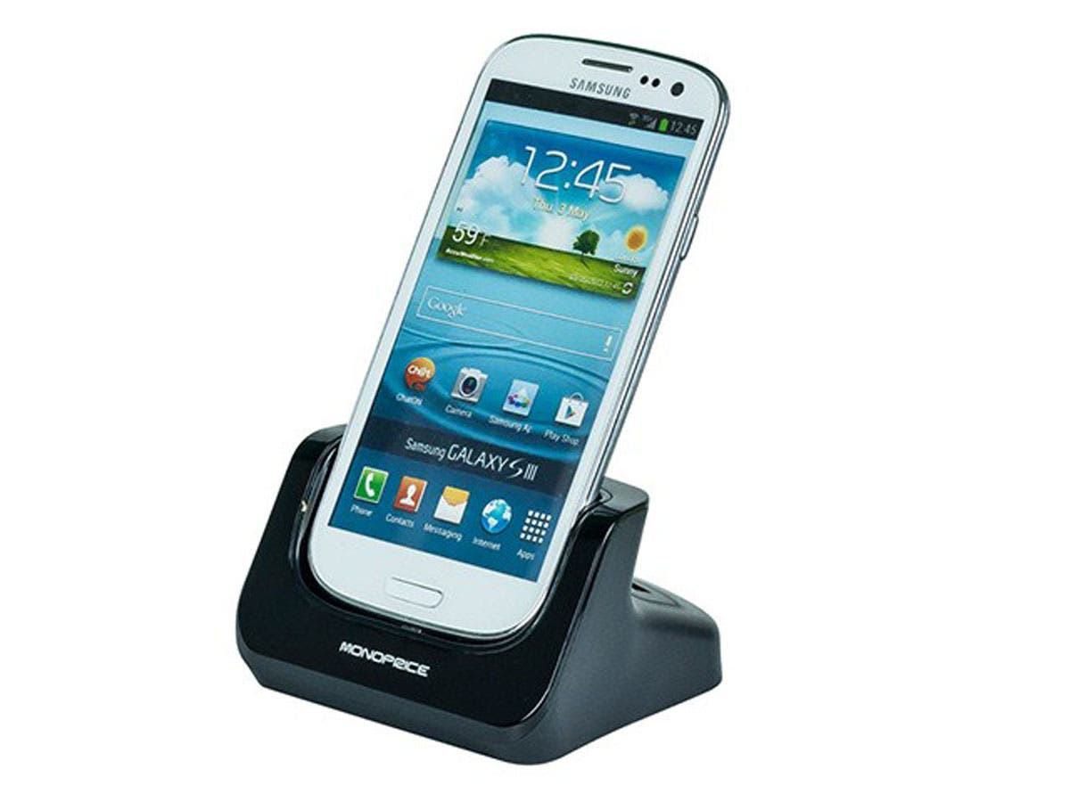 CaseDuo Charge & Sync Dock  + 2nd Battery Cradle for Samsung Galaxy SIII - Black