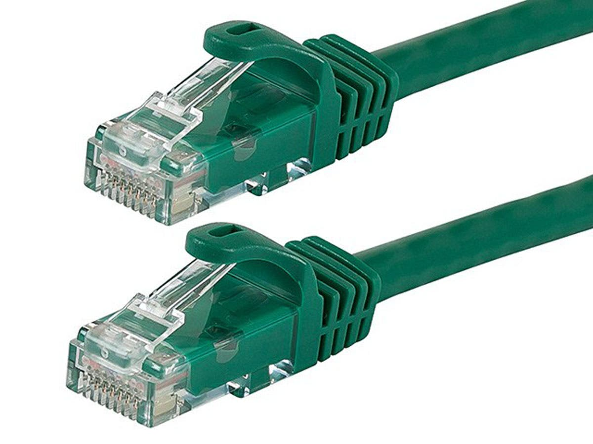 FLEXboot Series Cat6 24AWG UTP Ethernet Network Patch Cable, 1ft Green