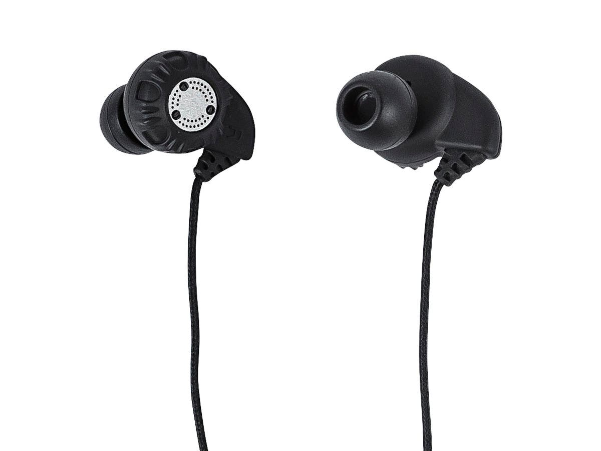 Enhanced Bass Hi-Fi Noise Isolating Earbuds Headphones - Black