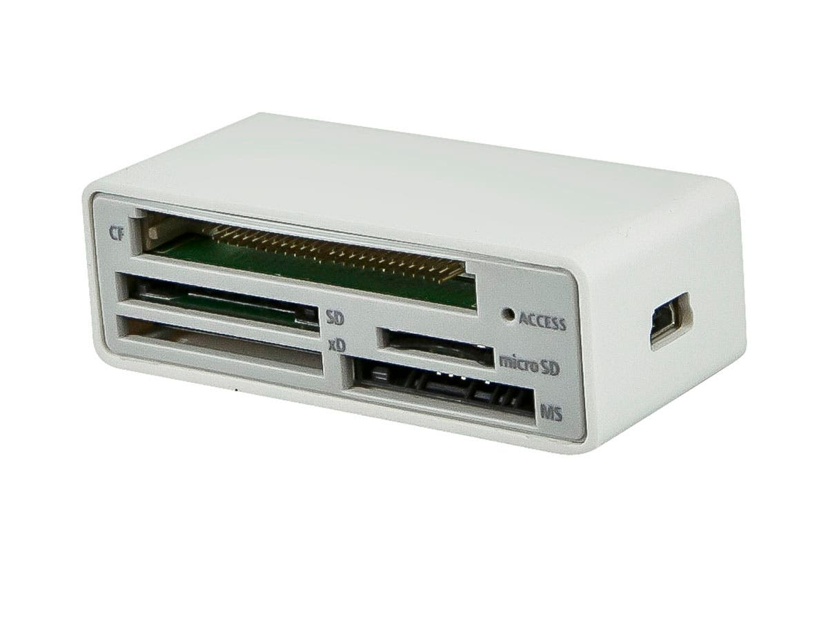 USB 2.0 Five Slot Card Reader - CF/ SD/ MS/ xD/ microSD & M2