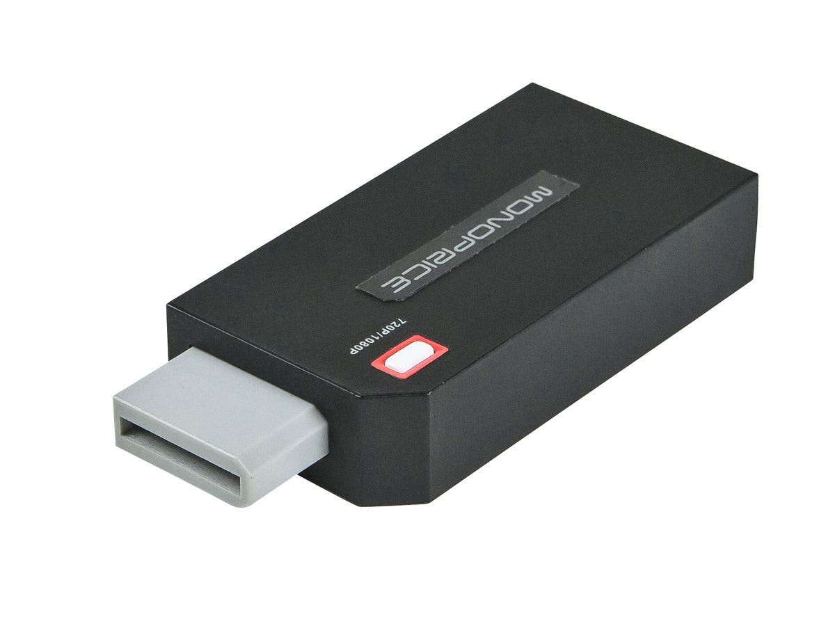 Monoprice Wii to HDMI 1080p HDTV Adapter - Black-Large-Image-1