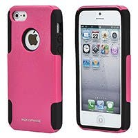 Monoprice Dual Guard PC+Silicone Case for iPhone 5/5s/SE, Pink
