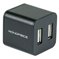 Monoprice USB 2.0 4-Port Cube Hub - Black