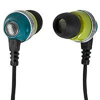Enhanced Bass Noise Isolating Earbuds Headphones w/ Built-in Microphone and Play/Pause Control  - Green