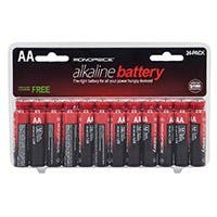 Monoprice AA Alkaline Battery, 24-Pack