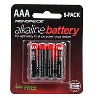 Monoprice AAA Alkaline Battery, 8-Pack