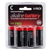 Monoprice C Alkaline Battery 4-Pack