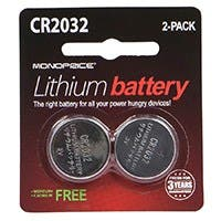 Monoprice CR2032 3V Lithium Battery, 2-Pack