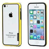 Monoprice PC+TPU Edge Bumper for iPhone 5c, Yellow