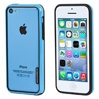 Monoprice PC+TPU Edge Bumper for iPhone 5c, Blue