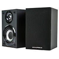 Monoprice Premium Home Theater Satellite Speaker (Pair), Black