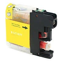 Monoprice Compatible Brother LC103Y Inkjet (New Chip Updated Sept 2015) - Yellow