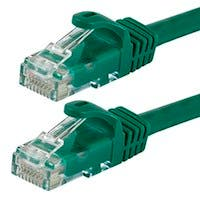 Monoprice FLEXboot Cat5e Ethernet Patch Cable - Snagless RJ45, Stranded, 350Mhz, UTP, Pure Bare Copper Wire, 24AWG, 20ft, Green