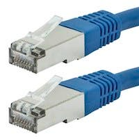 Monoprice Entegrade Cat6A Ethernet Patch Cable - Zeroboot RJ45, Stranded, 550Mhz, STP, Pure Bare Copper Wire, 10G, 26AWG, 0.5ft, Blue