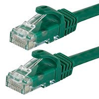 Monoprice FLEXboot Cat5e Ethernet Patch Cable - Snagless RJ45, Stranded, 350Mhz, UTP, Pure Bare Copper Wire, 24AWG, 100ft, Green