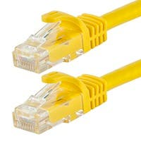 Monoprice FLEXboot Cat5e Ethernet Patch Cable - Snagless RJ45, Stranded, 350MHz, UTP, Pure Bare Copper Wire, 24AWG, 25ft, Yellow