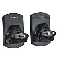 Monoprice Low Profile 22 lb. Capacity Speaker Wall Mount Brackets (Pair), Black