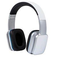 Bluetooth On-the-Ear Headphones with aptX, NFC, and Built-in Microphone, White
