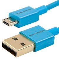 Monoprice Premium USB to Micro USB Charge & Sync Cable 6ft - Blue