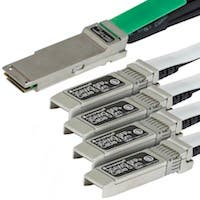 Monoprice 1M Cisco QSFP-4SFP10G-CU1M Compatible QSFP+ to 4SFP+ Breakout Cable