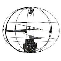Monoprice Flying Sphere Indoor RC Helicopter with Gyro, 3.5 Channel - Black