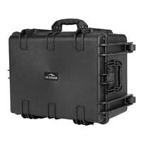 "Monoprice Weatherproof Hard Case with Wheels and Customizable Foam, 26"" x 20"" x 14"""
