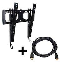 "Low Profile Tilting Wall Mount for Most 32"" ~ 55"" Flat Panel TVs, UL Certified w/ 10ft HDMI® Cable"