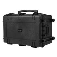 Monoprice Weatherproof Hard Case with Wheels and Customizable Foam, 33 x 22 x 17 in