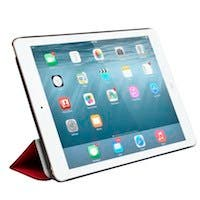 Monoprice Synthetic Leather Stand/Cover with Magnetic Latch for iPad Air 2, Red