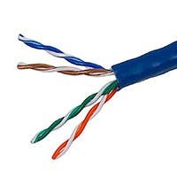 Monoprice Cat5e Ethernet Bulk Cable - Stranded, 350Mhz, UTP, CM, Pure Bare Copper Wire, 24AWG, No Logo, 1000ft, Blue