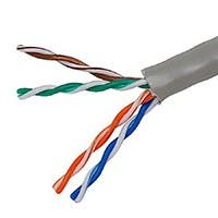 Monoprice Cat5e Ethernet Bulk Cable - Stranded, 350Mhz, UTP, CM, Pure Bare Copper Wire, 24AWG, No Logo, 1000ft, Gray