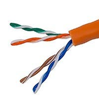 Monoprice Cat5e Ethernet Bulk Cable - Stranded, 350Mhz, UTP, CM, Pure Bare Copper Wire, 24AWG, No Logo, 1000ft, Orange