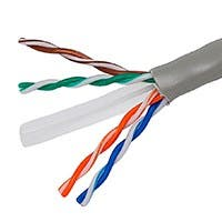 Monoprice Cat6 Ethernet Bulk Cable - Solid, 550Mhz, UTP, CMR, Riser Rated, Pure Bare Copper Wire, 23AWG, No Logo, 1000ft, Gray