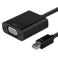 Monoprice Mini DisplayPort 1.2a / Thunderbolt to VGA Active Adapter, Black