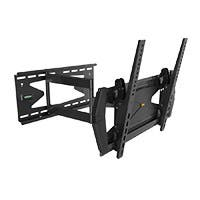 Monoprice Full-Motion Articulating TV Wall Mount Bracket TVs 32in to 55in, Max Weight 99lbs, Extends 3.0in to 21.6in, VESA Up to 400x400, Rotates , Security Brackets, Concrete & Brick, UL Certified