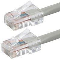 Monoprice Zeroboot Cat5e Ethernet Patch Cable - RJ45, Stranded, 350Mhz, UTP, Pure Bare Copper Wire, 24AWG, 100ft, Gray